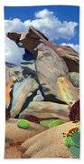 Indian Canyon Rocks Bath Towel