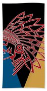 Indian Head Series 01 Bath Towel