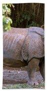 Indian Rhinoceros Bath Towel