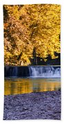Indianhead Dam - Perkiomen Creek Bath Towel