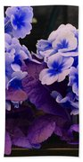 Indigo Flowers Bath Towel
