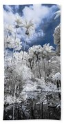 Infrared Pond And Reflections 2 Bath Towel