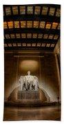 Inside The Lincoln Memorial Bath Towel