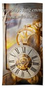 Inspirational - Time - A Look Back In Time - Da Vinci Hand Towel