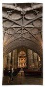 Interior Of Jeronimos Monastery Church In Lisbon Bath Towel