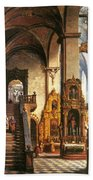 Interior Of The Dominican Church In Krakow Bath Towel