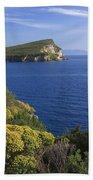 Ionian Sea Coast Albania Bath Towel