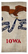 Iowa State Flag Hand Towel by Pixel Chimp