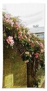 Ireland Floral Vine-topped Brick Wall Bath Towel
