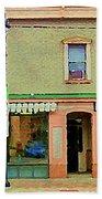 Irenes's Pub And Ernesto's Barber Shop Bank St Shops In The Glebe Paintings Of Ottawa Cspandau  Bath Towel