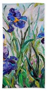 Iris Garden Bath Towel