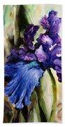 Iris In Bloom 2 Bath Sheet