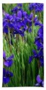 Iris In The Field Bath Towel
