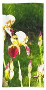 Iris In Watercolor Bath Towel