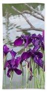 Iris Purple Lavender Bath Towel