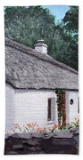 Irish Thatched Cottage Bath Towel
