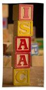 Isaac - Alphabet Blocks Bath Towel