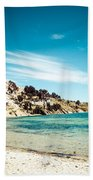 Isla Del Sol On The Titicaca Lake Bath Towel