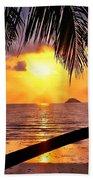 Island Sunset Bath Towel