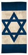 Israel Flag Vintage Distressed Finish Bath Towel