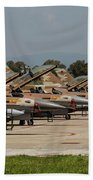 Israeli Air Force F-16`s Of Three Bath Towel
