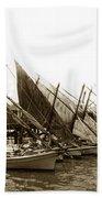 Italian Fishing Boats Fishermen's Wharf San Francisco Circa 1903 Bath Towel