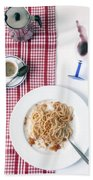 Italian Food Bath Towel