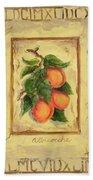 Italian Fruit Apricots Bath Towel