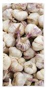 Italian Garlic Bulbs Bath Towel