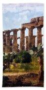 Italian Ruins 1 Bath Towel