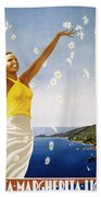 Italian Travel Poster, 1951 Bath Towel