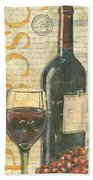 Italian Wine And Grapes Bath Towel