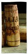 Italian Wine Corks Bath Towel