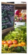 Farmer's Market Produce Stall II Bath Towel