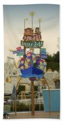 Its A Small World Fantasyland Signage Disneyland Bath Towel