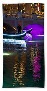 It's Not Venice - Brilliant Lights Glamorous Gondolas And The Magic Of Las Vegas At Night Bath Towel