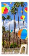 Its Raining Beach Balls Palm Springs Bath Towel