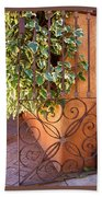 Ivy And Old Iron Gate Hand Towel