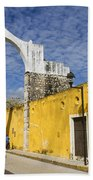 Izamal And It's Famous Arch Bath Towel