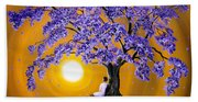 Jacaranda Sunset Meditation Hand Towel