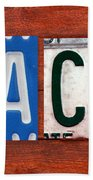 Jack License Plate Name Sign Fun Kid Room Decor Bath Towel
