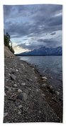Jackson Lake Shore With Grand Tetons Bath Towel