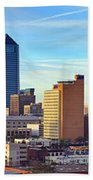 Jacksonville Skyline Morning Day Color Panorama Florida Bath Towel