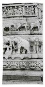 Jagdish Temple Sculpture Bath Towel