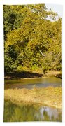 James River In The Fall Bath Towel