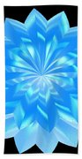 jammer Blue Shimmer Lotus Bath Towel