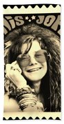 Janis Stamp In A Sepia Vibe Bath Towel