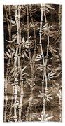 Japanese Bamboo Sepia Grunge Bath Towel