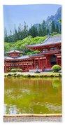 Japanese Byodoin Temple Bath Towel