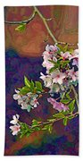 Japanese Cherry Blossom Branch Hand Towel